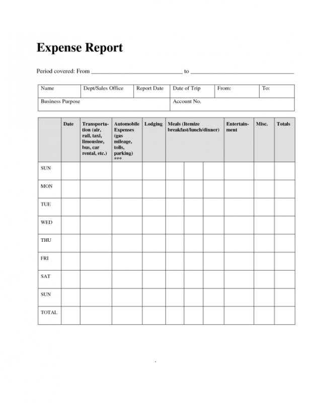 Free Printable Mileage Log Template Business