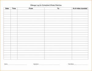 free printable mileage log irs mileage log