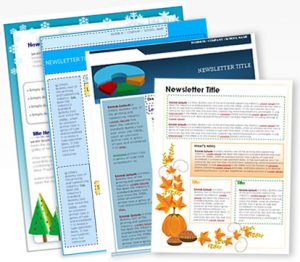 free printable newsletter templates main img