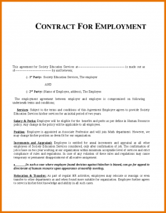 free printable obituary templates job contract template employment contract template