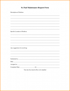 free printable order forms maintenance request form