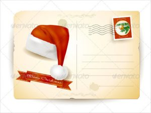 free printable postcard templates christmas postcard with santas hat