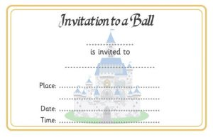 free printable postcard templates invitation to a ball