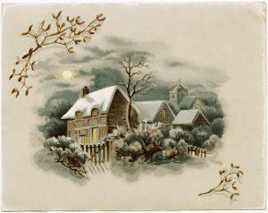 free printable postcards olddesignshop victoriancardwinterscene