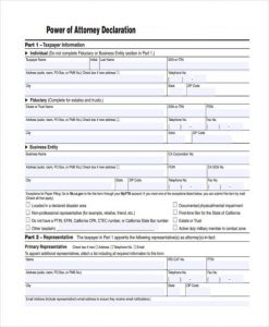 free printable power of attorney forms free printable power of attorney form