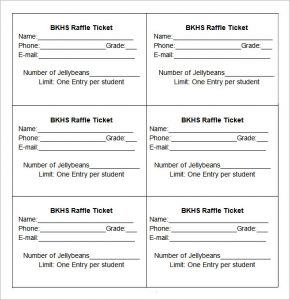 free printable raffle tickets raffle ticket template printable