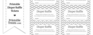 free printable raffle tickets template free silver chevron diaper raffle tickets to print