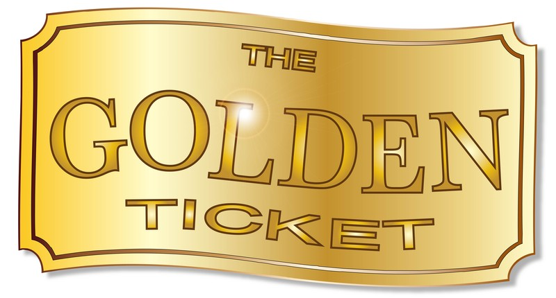 image relating to Golden Ticket Printable titled No cost Printable Golden Ticket Template