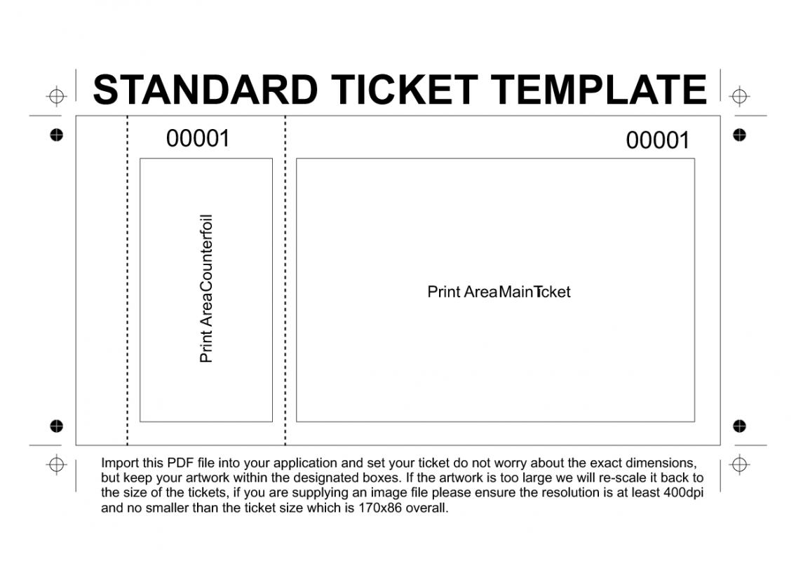free printable raffle tickets template template business