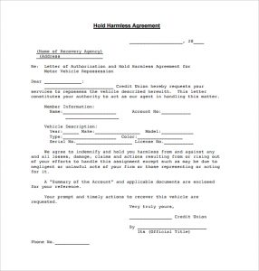 free printable rental agreements blank hold harmless agreement