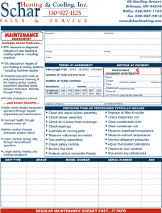 hvac maintenance agreement template - Romeo.landinez.co