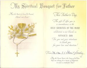 free printable sympathy cards undated spiritual bouquet card fr frank and family inside