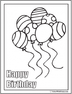 free printable thank you cards black and white coloring pages happy birthday