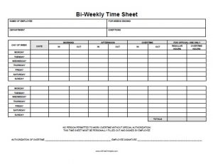 free printable time sheets free printable biweekly time sheet