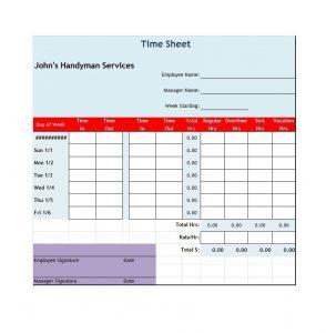 free printable timesheets timesheet template