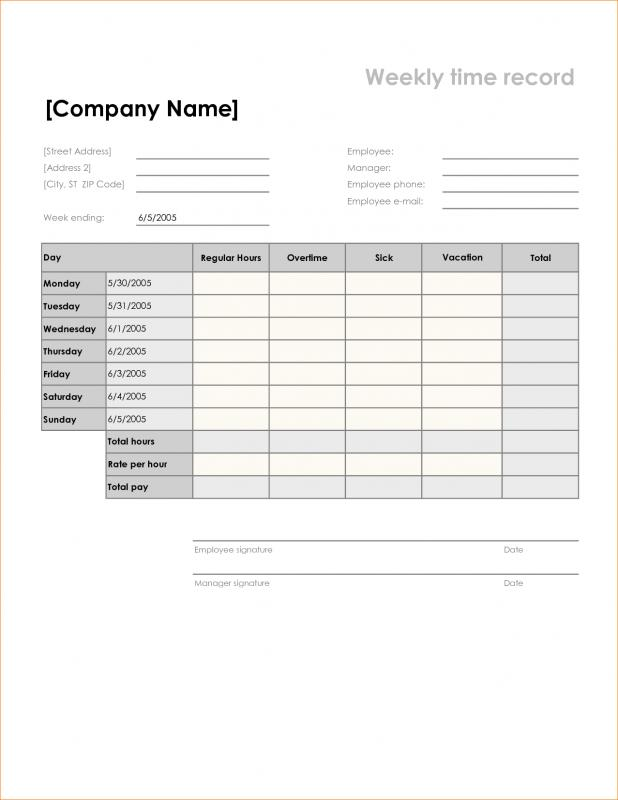 graphic relating to Printable Timesheets identify Absolutely free Printable Timesheets Template Place of work