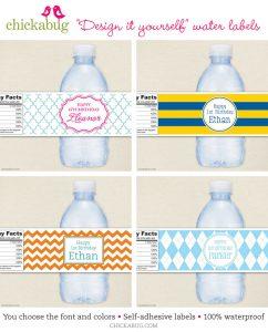free printable water bottle labels chickabug water bottle labels