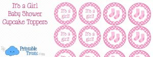 free printable water bottle labels for baby shower free printable girl baby cupcake toppers