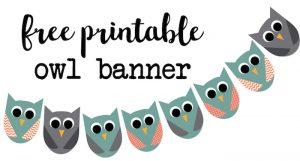 free printable water bottle labels for baby shower owl banner short