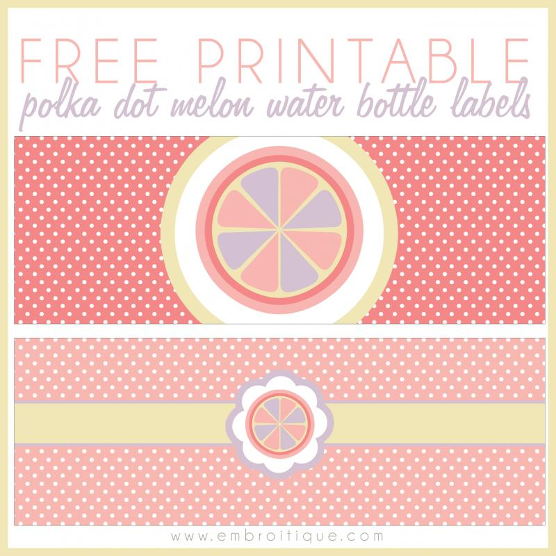 free printable water bottle labels