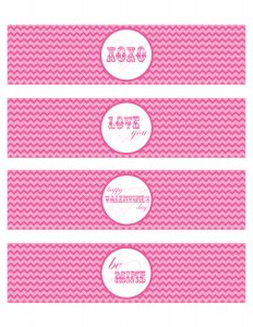 free printable water bottle labels valentines water bottle labels