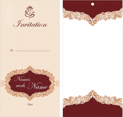 Free Printable Wedding Invitation Templates Download Template Business - Wedding invitation templates: wedding invitation card design template free download