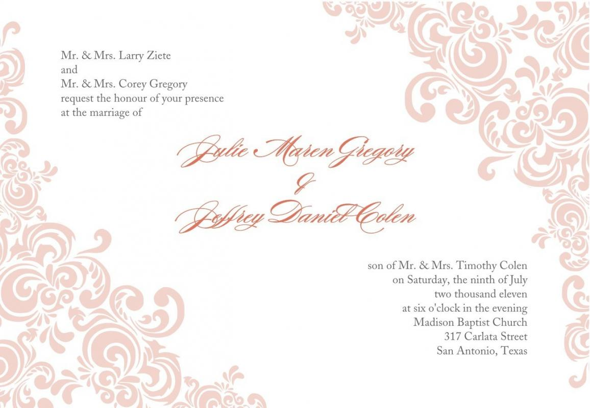 Free Printable Wedding Invitation Templates Download | Template Business