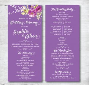 free printable wedding program templates attractive wedding program template download