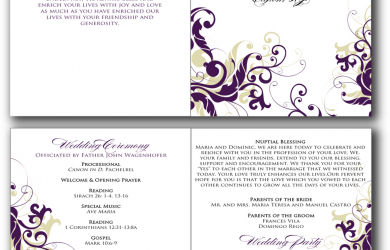free printable wedding program templates free printable program templates