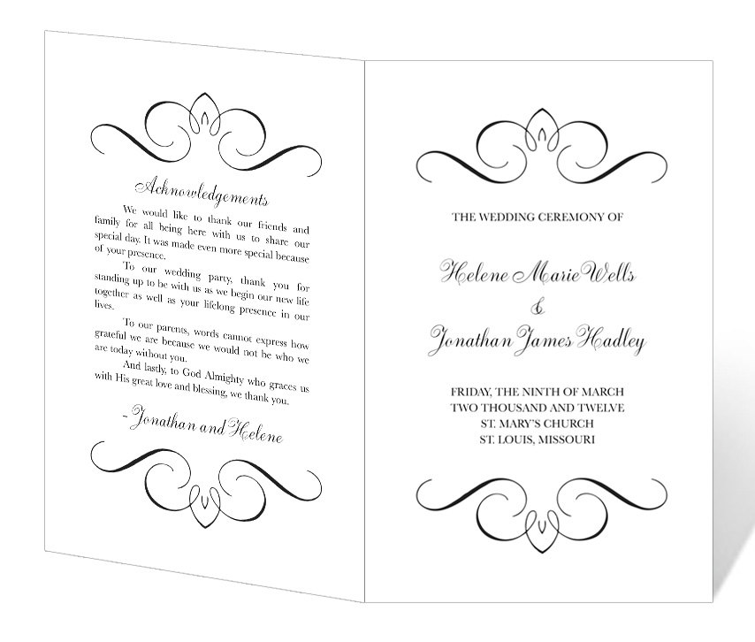 photograph about Printable Wedding Programs identify Free of charge Printable Wedding ceremony Software Templates Template Company