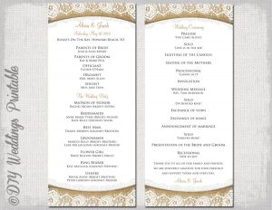 free printable wedding program templates word il fullxfull lc