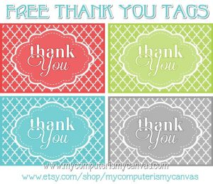 free printables thank you tags aacabcdbdd freebies printable printable tags