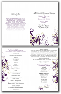 free program templates free printable program templates