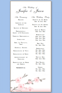 free program templates free wedding program templates