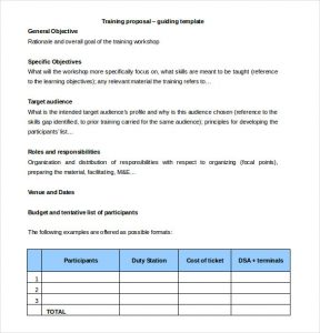 free proposal template free training proposal template download