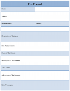 free proposal template freeproposaltemplate