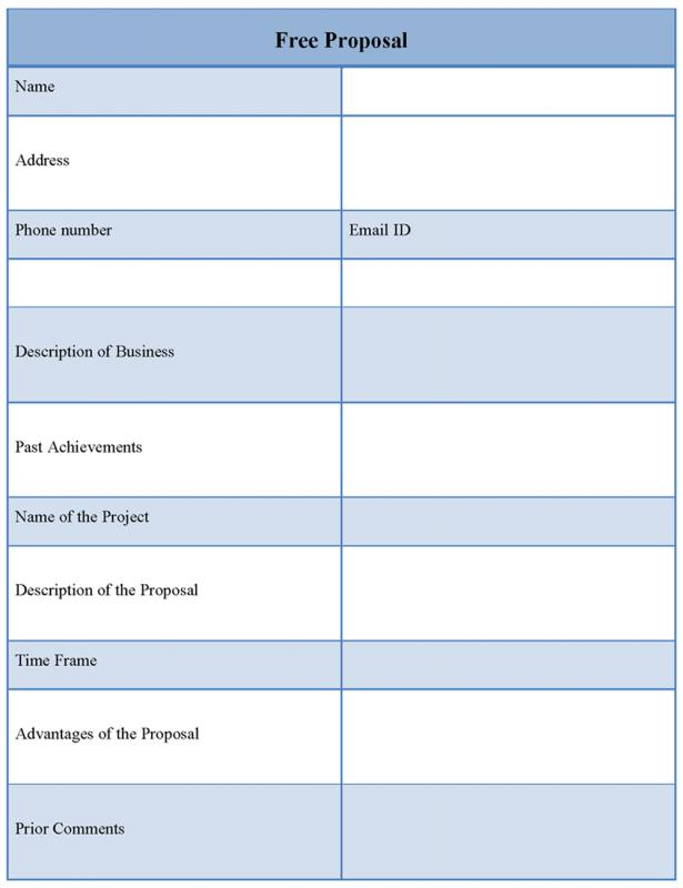 Free Proposal Template Template Business