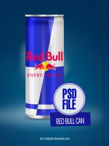 free psd logo psd red bull can by mostpato dylel