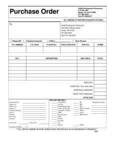 free purchase order template free purchase order form template