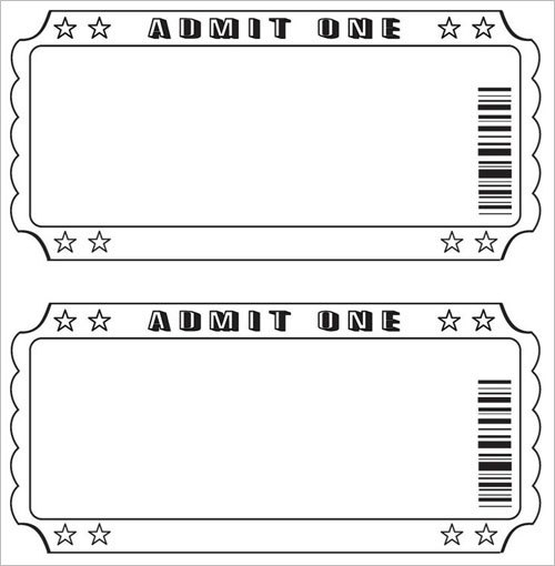 Free Raffle Ticket Template  Movie Ticket Template Free