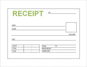 free receipt template blank receipt template e - Blank Receipt Template