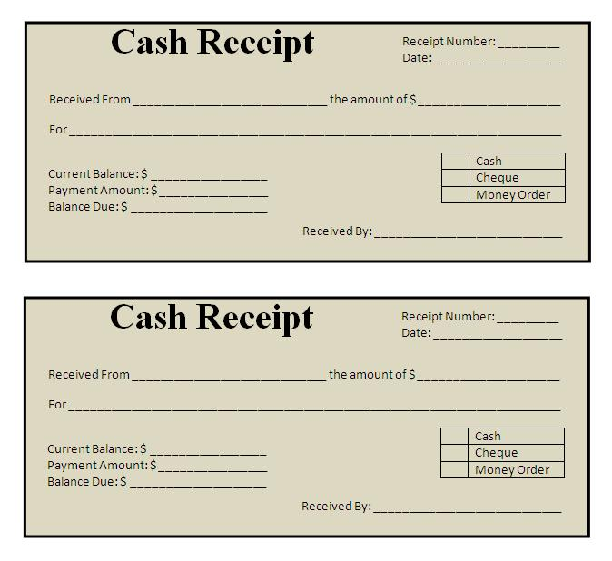 free receipt template