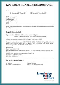 free registration form template kol relationship management in pharma devices workshop highlights
