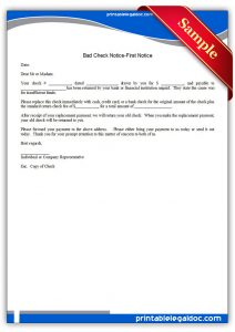 free registration form template printable bad check notice , first notice form