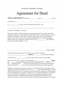 free registration form template standard agreement for deed florida d