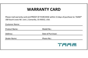 free registration form template warranty card