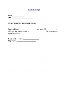 free rent receipt template how to write a receipt