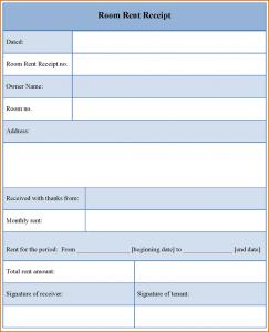 free rent receipt template rental receipt template room rent receipt template