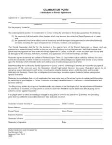 free rental agreement forms guarantor form addendum to rental agreement l