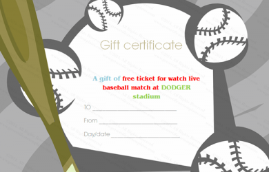 free report card template baseball tickets gift certificate template